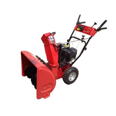 powerland 24 in two stage electric start gas snow blower