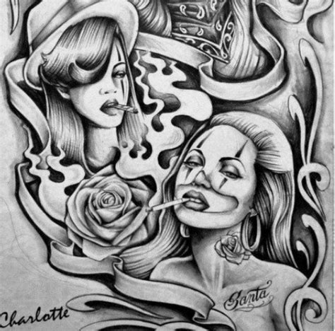 chola tattoos chola flash arte designs