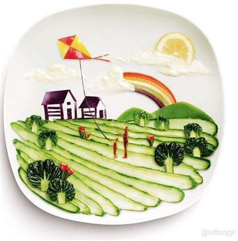 4 Eye Catching Art of Salad That Vividly Shows People's