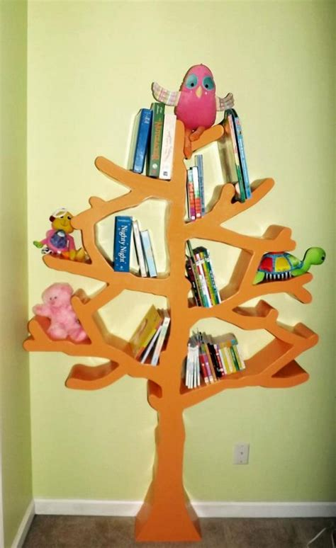 build your own tree shaped bookshelf diy bookshelf