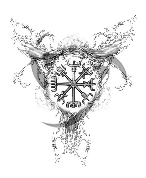 nordic designs for tattoos best 25 viking compass ideas on nordic