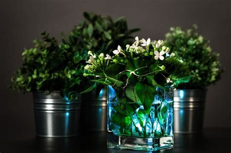 diy floral centerpiece with submersible lights diy