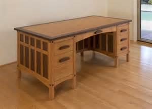 pdf diy arts and crafts style desk plans barn