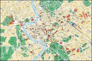 Rome Italy Map by Large Detailed Street Map Of Rome City Center Rome City