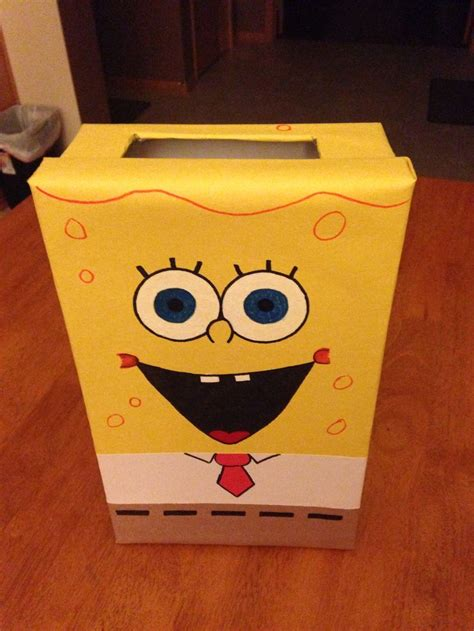 spongebob box spongebob valentines box things i made