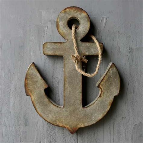 anchor home decor aged zinc anchor wall plaque da4459