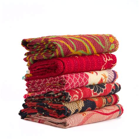 Quilted Throws Wholesale by Set Of 3 Wholesale Lot Assorted Indian Vintage Sari