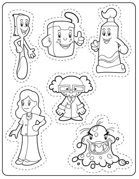 health coloring pages preschool 240 best images about thema tandarts kleuters theme