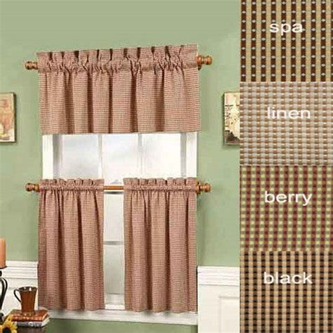 curtains 36 long black 36 quot long fleetwood rod pocket tier curtain pair by