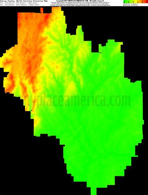 carolina elevation map free yancey county carolina topo maps elevations