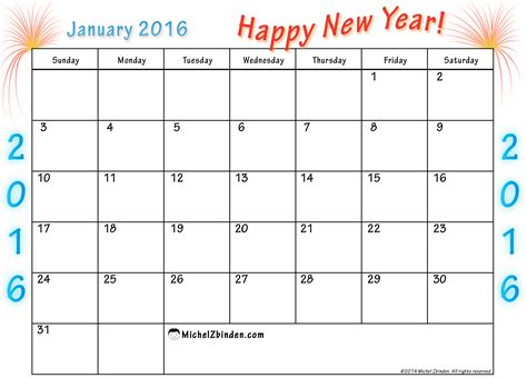 printable january 2016 daily planner january 2016 printable calendar printable calendar templates