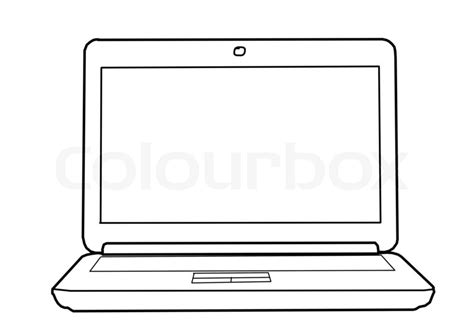 Drawing Laptop by Drawing Laptop Stock Photo Colourbox