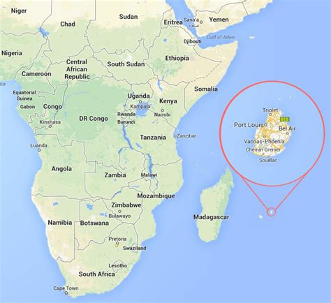Mauritius On World Map by Position Of Mauritius On The World Map Pictures To Pin On