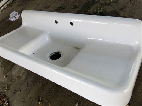 kitchen sink cast iron antique white cast iron farmhouse drainboard kitchen sink ebay