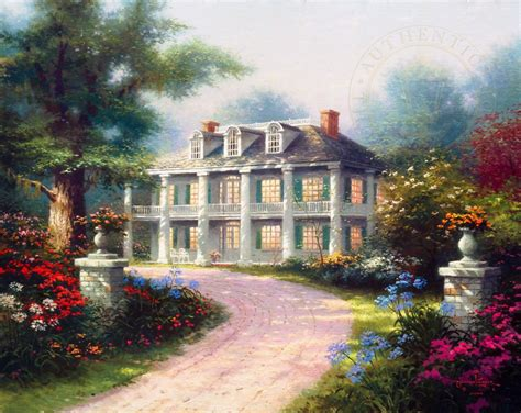 painting of house homestead house the thomas kinkade company