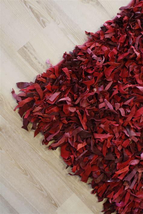 tappeto x correre tappeto in pelle a pelo lungo rosso 200x200 cm vera pelle