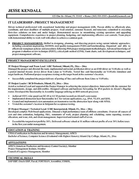 Project Manager Resume Example Project Manager Resume Example