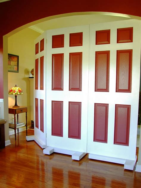 how to make a room divider how to build a privacy screen using door how tos diy