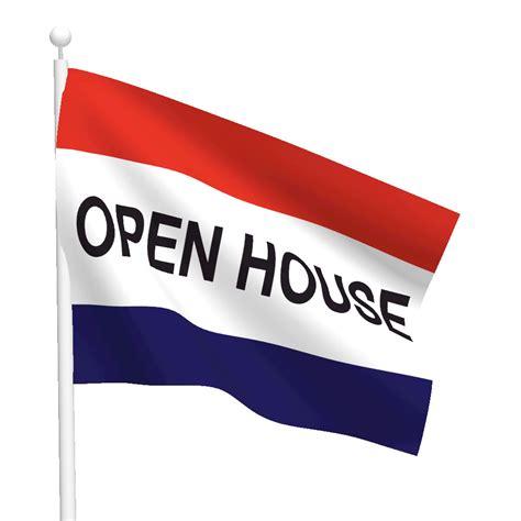 flag house 3ft x 5ft open house message flag flags international