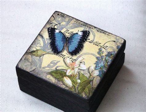 Decoupage Techniques Ideas - 17 best ideas about small wooden boxes on