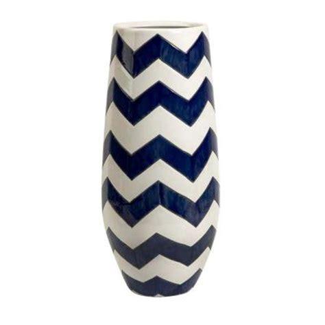 Navy Blue And White Vases Home Decorators Collection Chrevron Navy White Vase