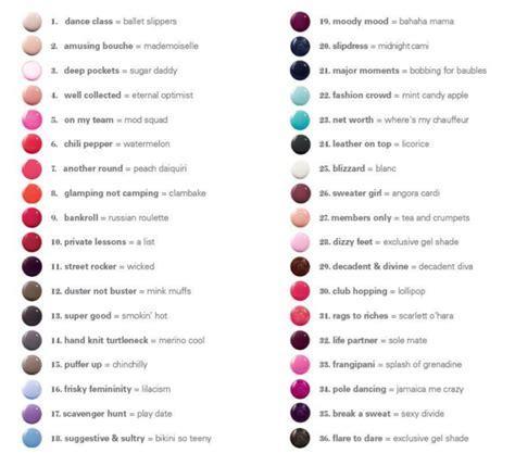 essie color chart essie gel stylescoop south lifestyle