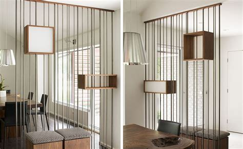 room divider rod metal rods and wood boxes make up this stylish room divider livin spaces