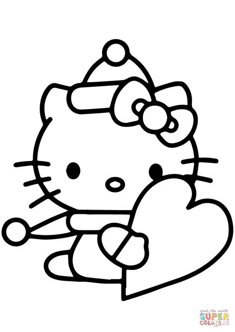 hello kitty coloring pages valentines day hello kitty valentine coloring pages coloring home