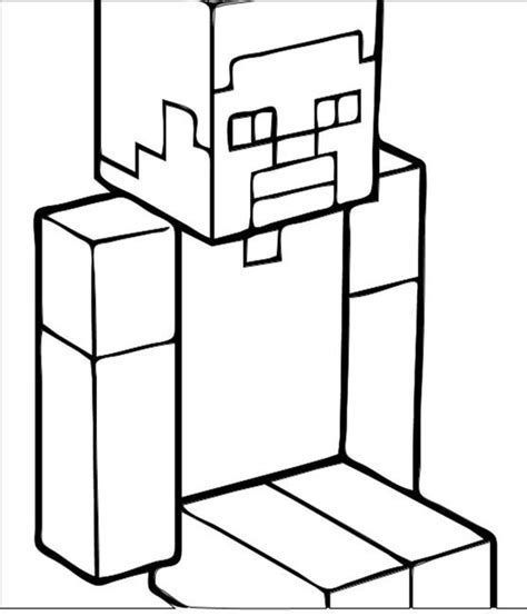 coloring page minecraft steve free coloring pages of steve minecraft