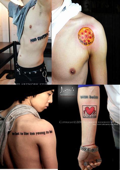 tato di paha g dragon tatto of big bang s member too fast to live too
