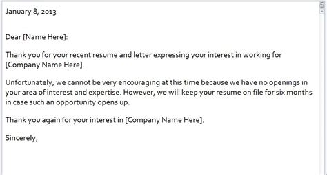 Regret Letter Via Email Rejection Email Template Rejection Letter Email