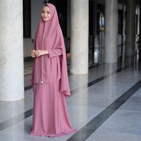 Baju Muslim Gamis Syar I Mb9193 by Model Baju Gamis Syar I Polos Warna Pink Fashion Muslim
