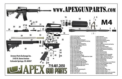 ar 15 rifle parts diagram ar exploded diagram and parts list 1911 parts list diagram