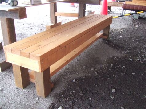 homemade wood bench diy wooden bench outdoors pinterest