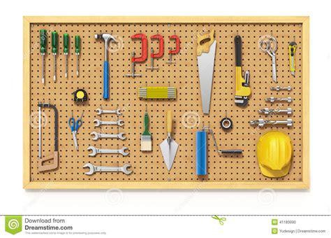 Garage Workshop Design Ideas tools on a pegboard stock illustration image 41183990