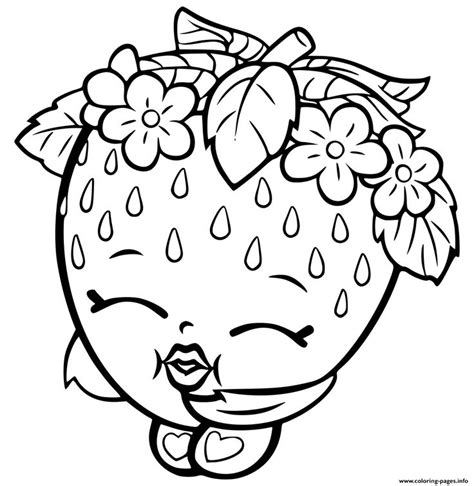shopkins coloring pages apple blossom print shopkins strawberry coloring pages looks good