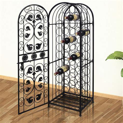 Metal Wine Racks For Sale by Metal Wine Cabinet Rack Wine Stand For 45 Bottles Vidaxl