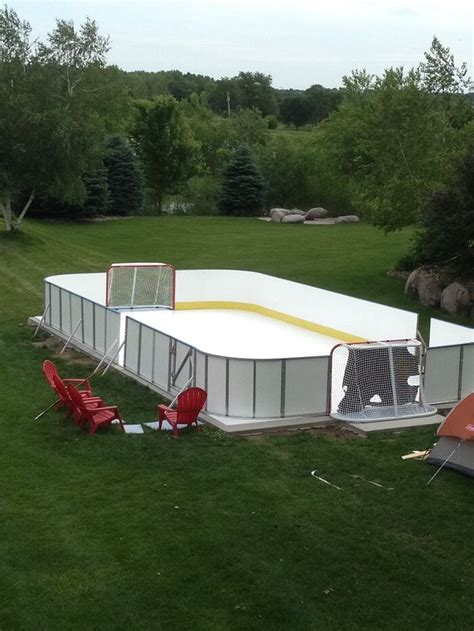 backyard ice hockey rinks learn more about synthetic ice d1 backyard rinks