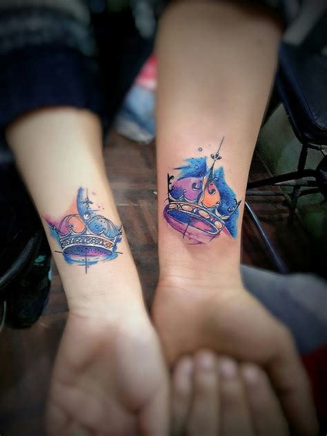 crown couple tattoos crown frenz inn