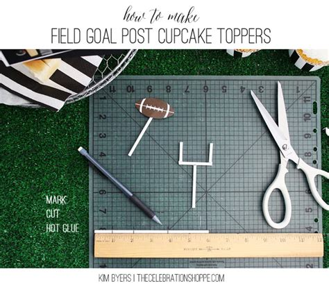 How To Make A Paper Field Goal - diy field goal post cupcake toppers football food