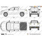 Fiat Toro Vector Drawing