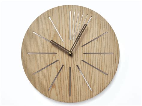 wooden clocks industrial wall clock modern wooden clock geometric clock