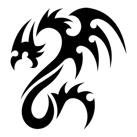 pattern tattoo black and white black and white dragon tattoo clipart best