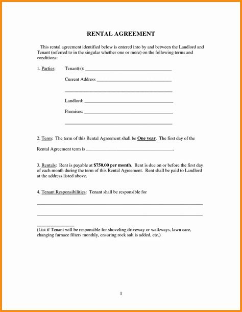 6 simple rental agreement form model resumed