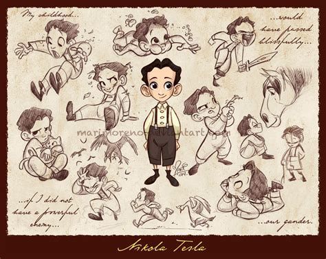 Nikola Tesla Family Nikola Tesla By Marimoreno On Deviantart