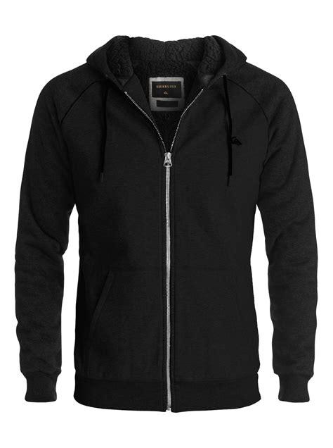 Hoodie Zipper Quiksilver Black 1 block outback sherpa zip up hoodie 889351474049 quiksilver