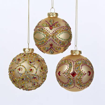 walmart ornaments pack pack of 18 gold glass ornaments 3 quot 80mm walmart