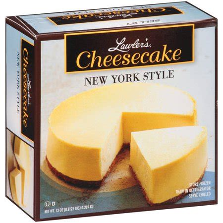 is ny style cheesecake refrigerated lawler s new york style cheesecake 13 oz walmart