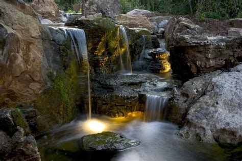 Aquascape Waterfall by Aquascapes Waterfall And Lighting Pond And Water Feature