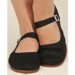 chinese mary jane fabric flats in basic black 7 00